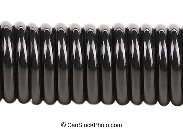Close up of black steel expander. Isolated on a white...