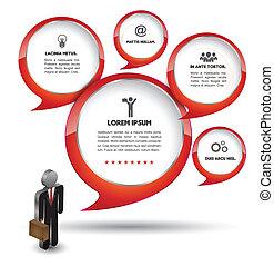 Speech bubble Vector template - Vector business concepts...