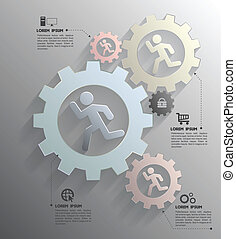 Gear Vector concept template - Vector business concepts with...