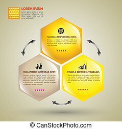 Hexagon Vector concept template - Vector business concepts...