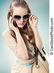 girl talking on the phone - Beautiful girl talking on the...