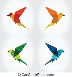 pássaro, Abstração