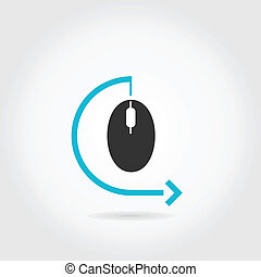 Computer mouse - The computer mouse. A vector illustration
