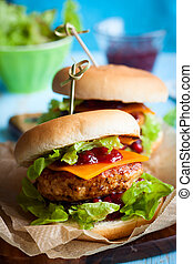 christmas Turkey Burgers - Christmas Turkey Burgers With...