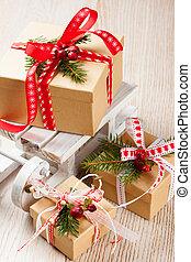箱子, 聖誕節, 禮物