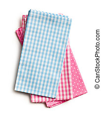 colorful kitchen napkins - top view of colorful kitchen...