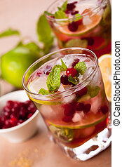 Cranberry mojito - Christmas cranberry and brown sugar...