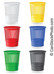 dustbin colors vector illustration isolated on white...