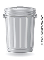 trash can vector illustration isolated on white background