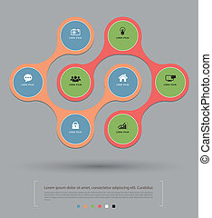 circle relationship with icons - Vector business concepts...