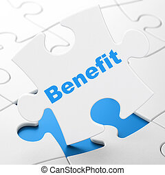 Business concept: Benefit on puzzle background - Business...