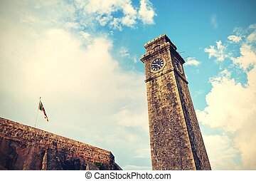 Clock tower in Galle Fort - Sri Lanka