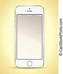 Smart phone gold - Vector business concepts with icons / can...