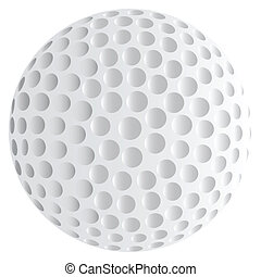 Isolated Golf Ball - A golf ball isolated over a white...