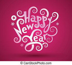 happy new tear - Happy new year text with background texture