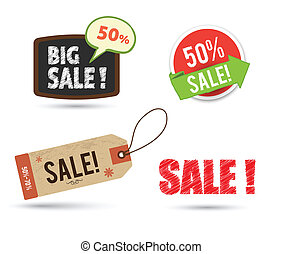 tags sale set
