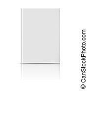 Blank vertical book template - Blank vertical book cover...
