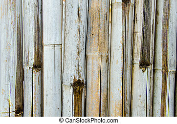 Bamboo texture background - An old pale yellow bamboo...