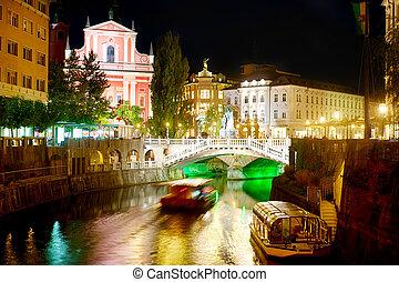Ljubljana, notte