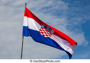 nacional, bandera, croata