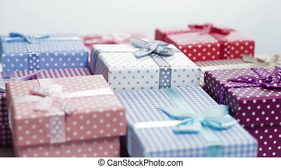 present boxes rotating loop - multi color present boxes...