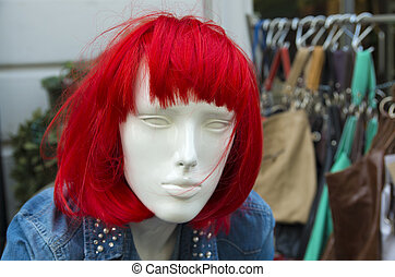 woman mannequin - mannequin with red hair