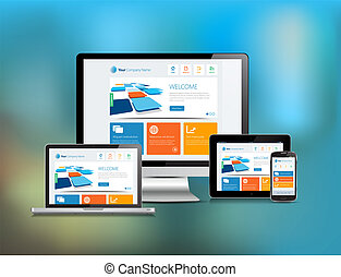 Responsive Design Blur Background - This image is a vector...