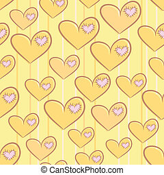 Seamless Valentine's Day pattern with hearts