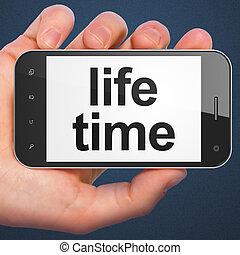 Timeline concept: Life Time on smartphone - Timeline...