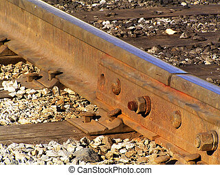 Close-up of rails - Detail of nut and spring fixating rails