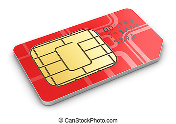 SIM card - Creative abstract mobile telecommunication,...