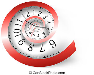 Infinity time background Vector illustration