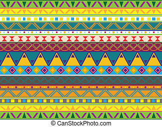 aztec pattern - illustration of seamless background with a...