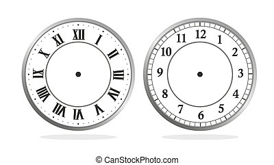 antique clock - illustration of a clock with roman and latin...