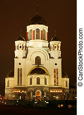 Orthodox temple - Main cathedral of Ekaterinburg, Russia in...