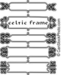 Set celtic frame an element of design in the Irish style -...