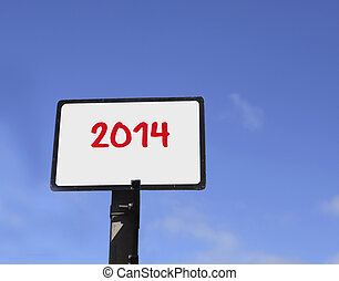 2014 on sign