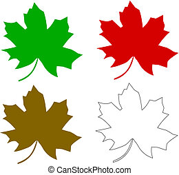 multicolored maple leaf series
