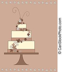 party cake - an illustration of a stylized party celebration...