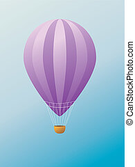 Hot air balloon - Colorful illustration of hot air balloon...