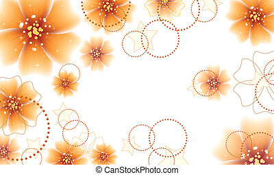 Orange flowers design - Elegant floral background with...