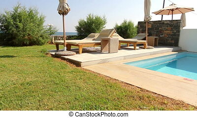 place of rest by the pool