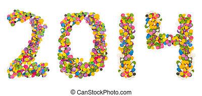 2014 made of confetti