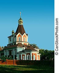 Orthodox temple - Russian building an orthodox temple