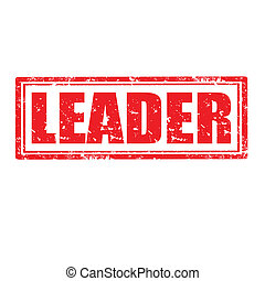 Leader-stamp - Grunge rubber stamp with word Leader,vector...