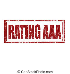 Rating AAA-stamp - Grunge rubber stamp with text Rating...