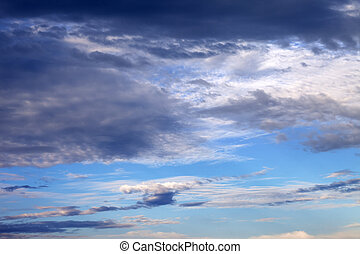 Sky with clouds in nice summer evening