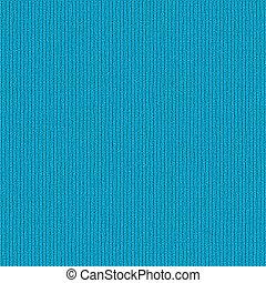 azul, De lana, tela