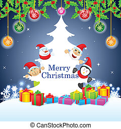 Merry Christmas - easy to edit vector illustration of Merry...