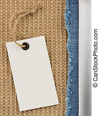 jeans and burlap hessian background - jeans and background...